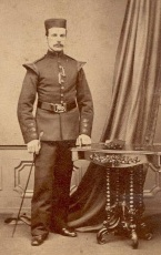 Private James Martin Daly in band uniform (select for larger image)
