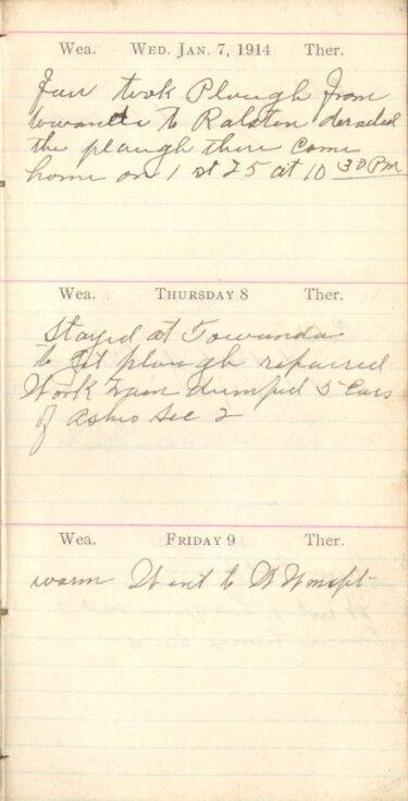 January 7 to 9, 1914