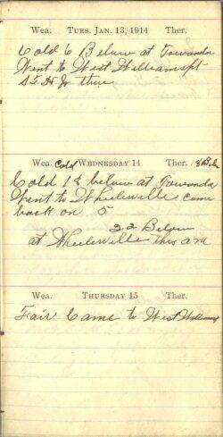 January 13 to 15, 1914