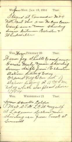 January 19 to 21, 1914