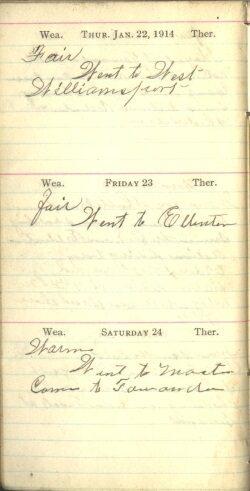 January 22 to 24, 1914