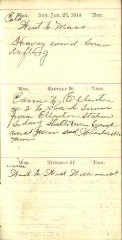 January 25 to 27, 1914