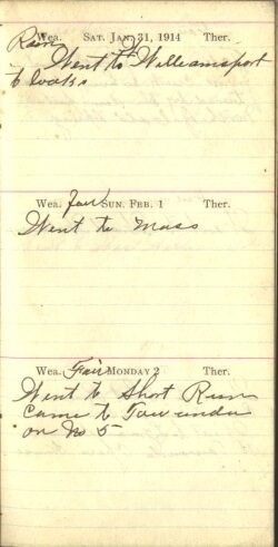 January 31 to February 2, 1914