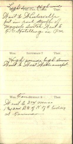 February 6 to 8, 1914