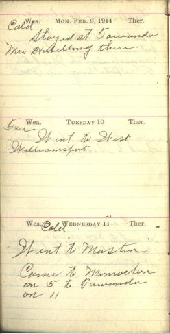 February 9 to 11, 1914