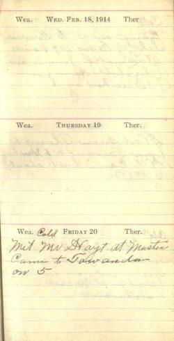 February 18 to 20, 1914