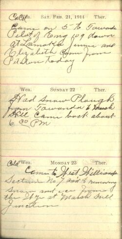 February 21 to 23, 1914