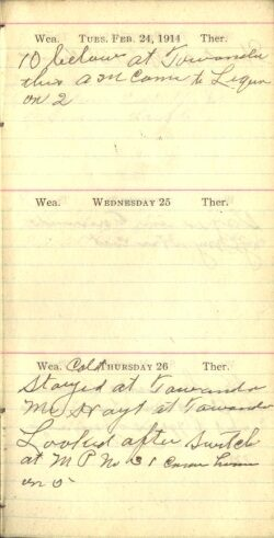 February 24 to 26, 1914
