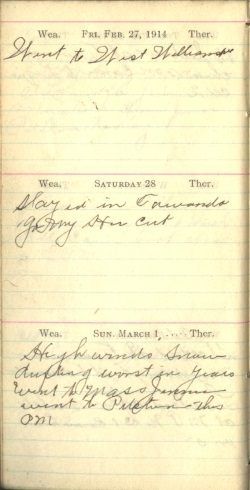 February 27 to March 1, 1914