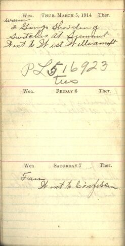 March 5 to 7, 1914