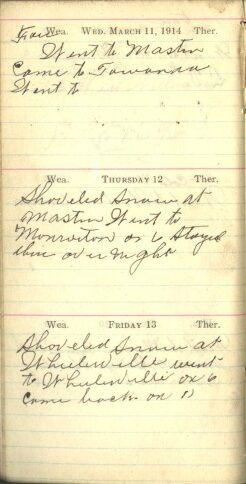 March 11 to 13, 1914