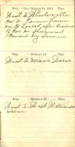 March 14 to 16, 1914