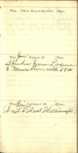 March 26 to 28, 1914