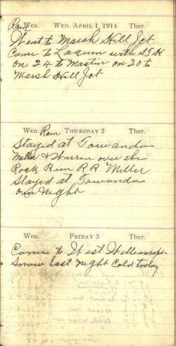 April 1 to 3, 1914