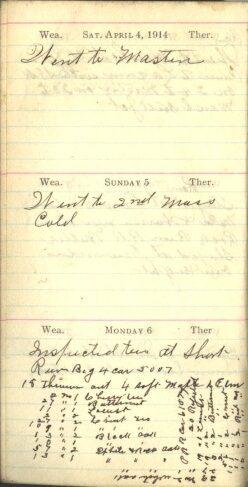 April 4 to 6, 1914