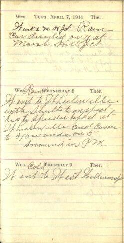 April 7 to 9, 1914