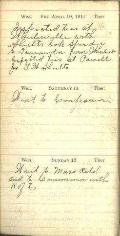 April 10 to 12, 1914