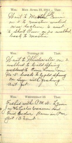 April 13 to 15, 1914
