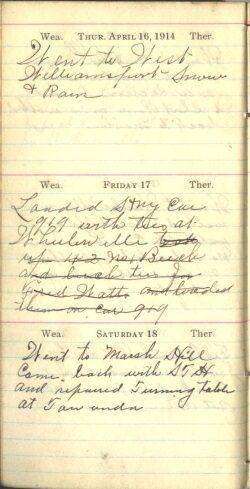 April 16 to 18, 1914
