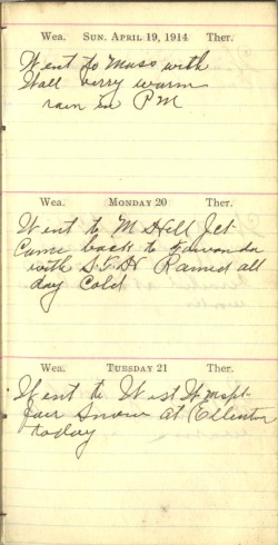 April 19 to 21, 1914