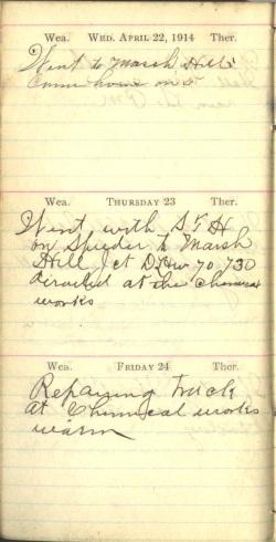 April 22 to 24, 1914