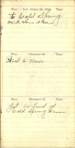 April 25 to 27, 1914