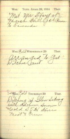 April 28 to 30, 1914