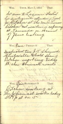 May 7 to 9, 1914
