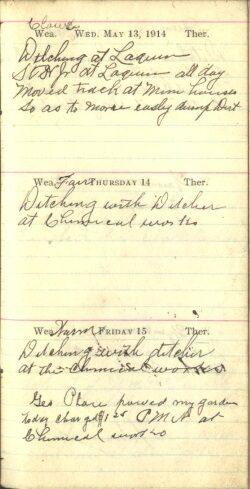 May 13 to 15, 1914