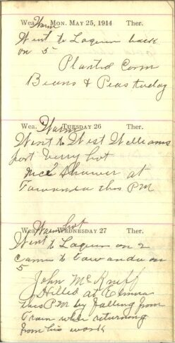 May 25 to 27, 1914