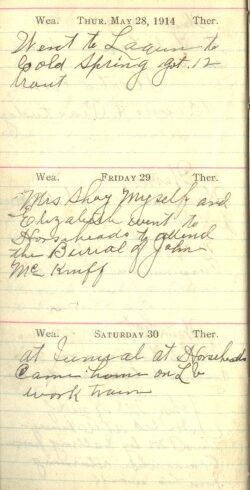 May 28 to 30, 1914