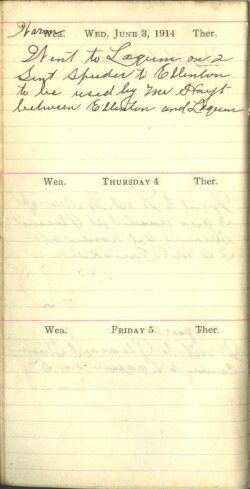 June 3 to 5, 1914