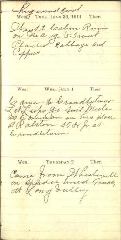June 30 to July 2, 1914