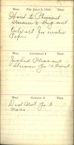July 3 to 5, 1914
