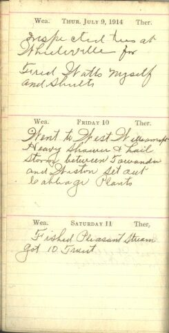 July 9 to 11, 1914