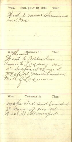 July 12 to 14, 1914