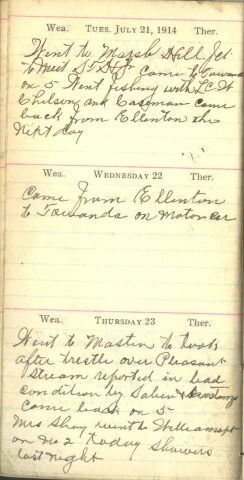 July 21 to 23, 1914