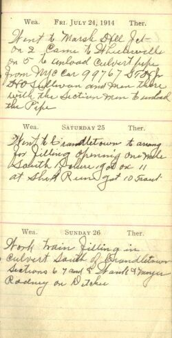 July 24 to 26, 1914