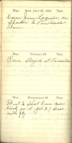 July 27 to 29, 1914