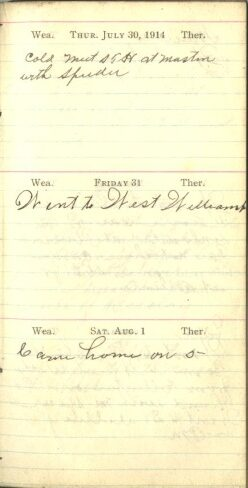 July 30 to August 1, 1914