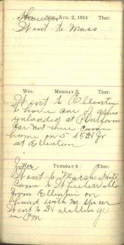 August 2 to 4, 1914