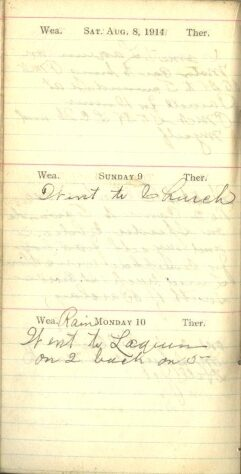 August 8 to 10, 1914
