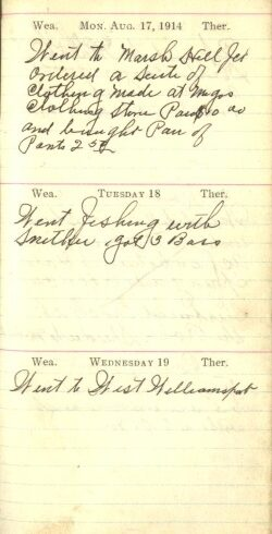 August 17 to 19, 1914