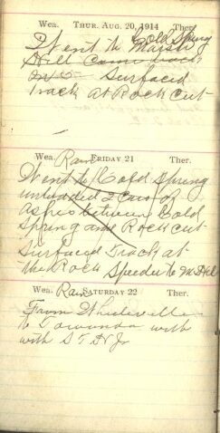August 20 to 22, 1914