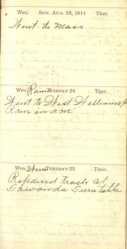 August 23 to 25, 1914