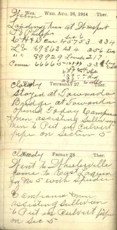 August 26 to 28, 1914