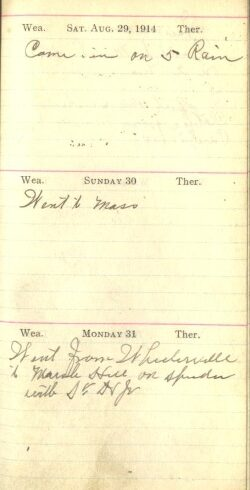 August 29 to 31, 1914