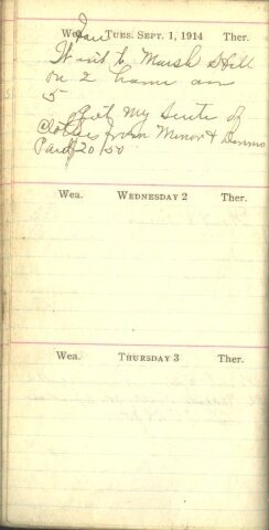 September 1 to 3, 1914