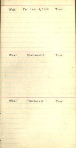 September 4 to 6, 1914