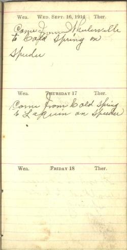 September 16 to 18, 1914
